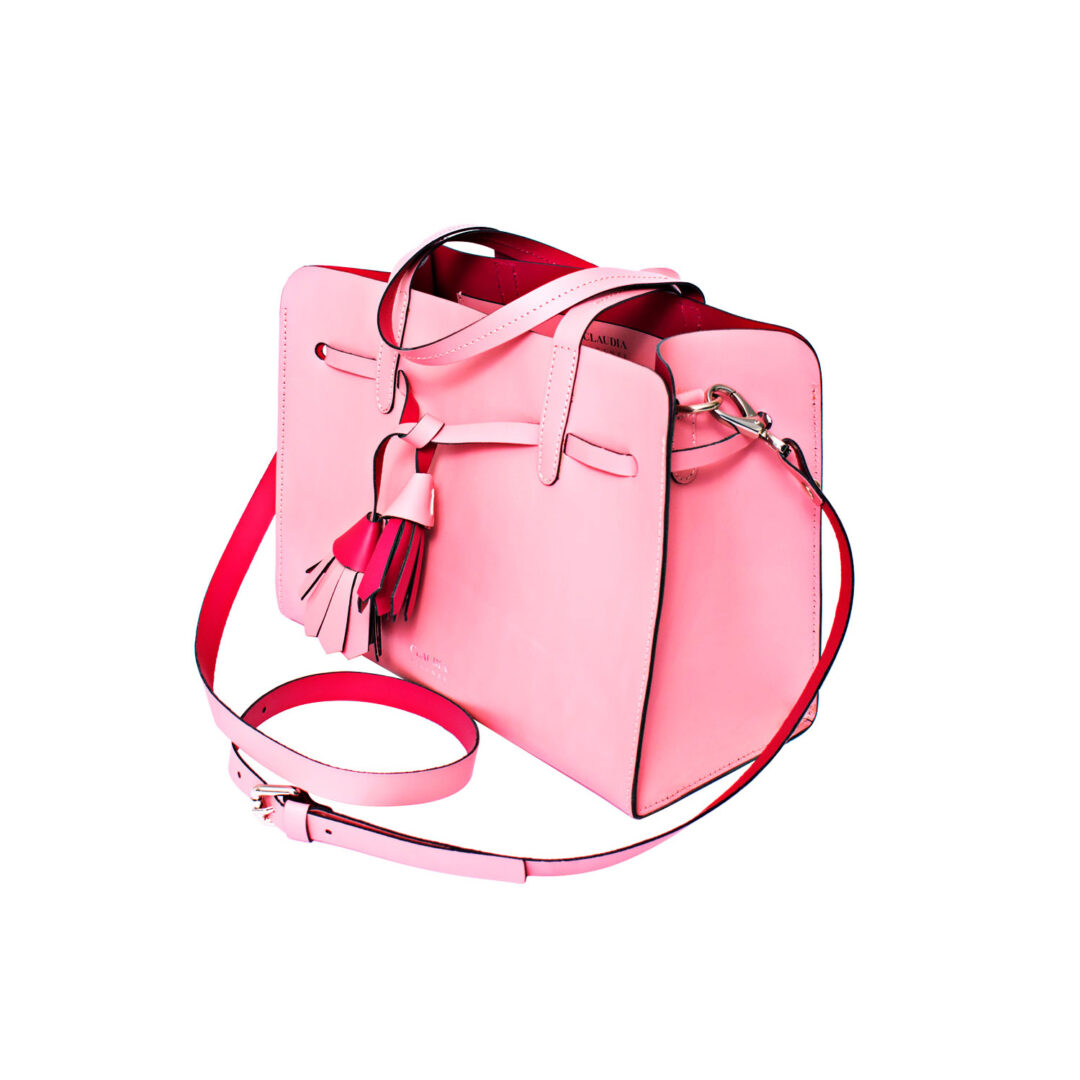 Pink leather handbag angle view product photo Product Photographers Commercial Photographers Midrand Johannesburg South Africa