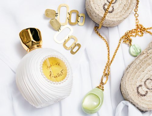 Ladies fragrance posed with sandals and jewellery flat lay Profesional Photographer Commercial Photographers Midrand Johannesburg South Africa
