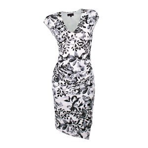 Black and white dress front view ghost mannequin edited for E-commerce Product Photographers Commercial Photographers Midrand Johannesburg South Africa