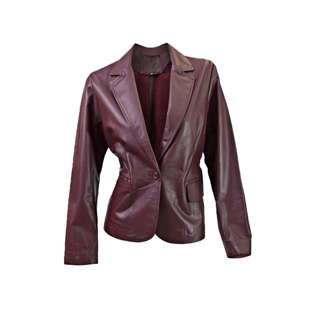 Plum leather jacket front view ghost mannequin edited for E-commerce Product Photographers Commercial Photographers Midrand Johannesburg South Africa