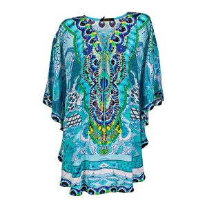 Blue kaftan front view ghost mannequin edited for E-commerce Advertising Photographer Professional Photographer Midrand Johannesburg South Africa