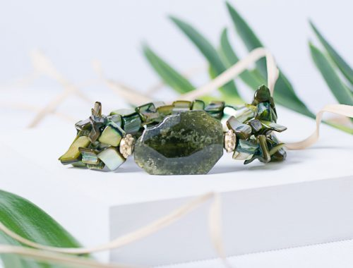 Green Garnet bracelet posed on white product stage Product Photographers Commercial Photographers Midrand Johannesburg South Africa