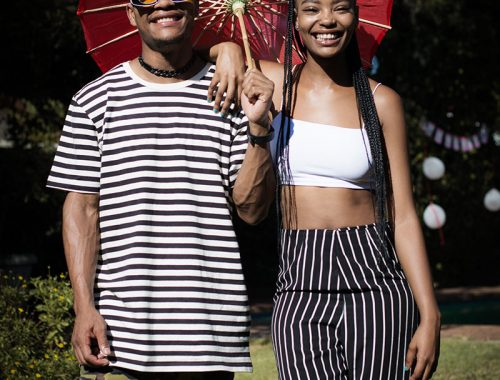COuple with umbrella portrait photography