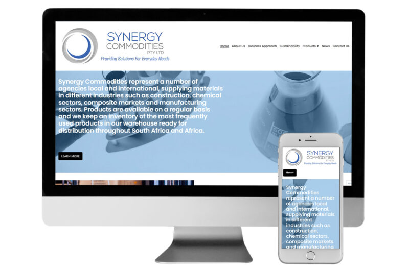 Synergy Commodities website responsive view Alter Image Digital Media web designers ecommerce developers Midrand Johannesburg South Africa
