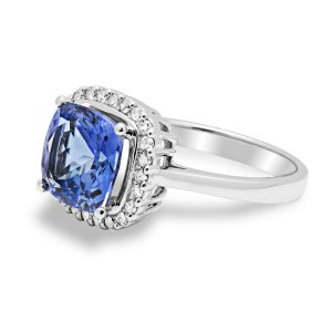 Tanzanite and white gold ring packshot for E-commerce Product Photographers Commercial Photographers Midrand Johannesburg South Africa Jewellery Photography Services