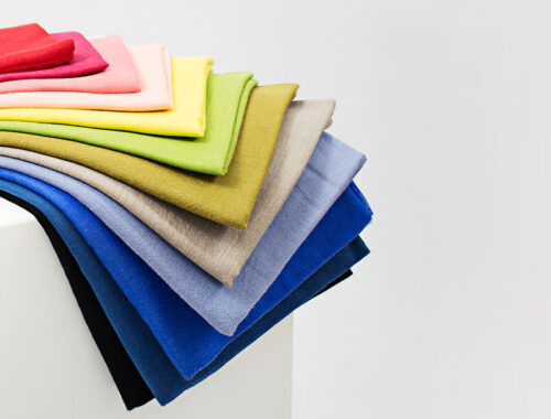 Coloured scarves advertising image by commercial photographers Alter Image